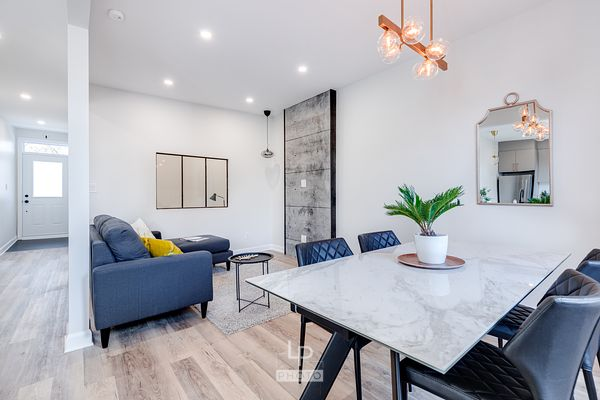 Renovated condo with nice designed living room