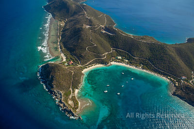 Peter Island and Dead Man Bay. British Virgin Islands Caribbean