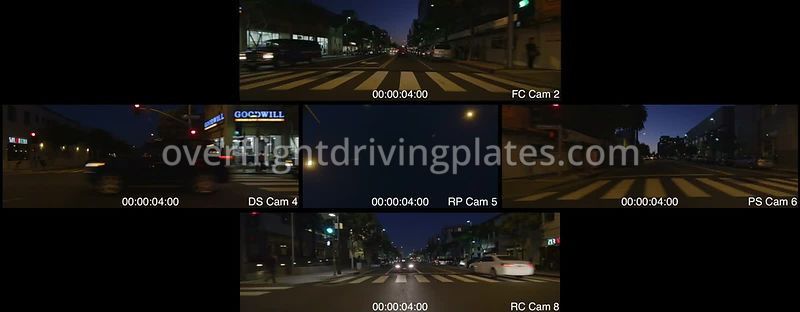 Downtown Dusk  Santa Monica California USA - Driving Plate Preview 2012