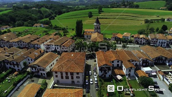 Town of Ainhoae  France Drone Video View