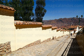 Restored section of Qhapaq Ñan at Paqlachapata, the start of the former Inca road to Antisuyu, Cusco, Peru