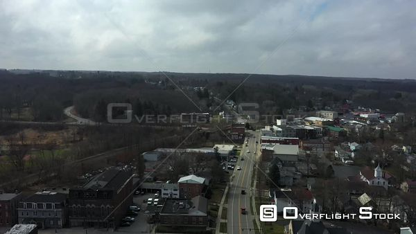 Town of Attica New York Drone Aerial View