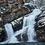 Cameron Falls in Winter