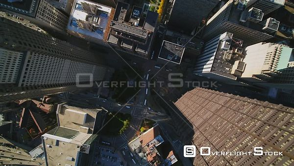 Pittsburgh Pennsylvania Slow downtown cityscape in vertical perspective