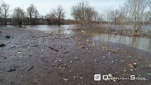 Flood Water and Pollution along the Ohio River near Louisville Kentucky