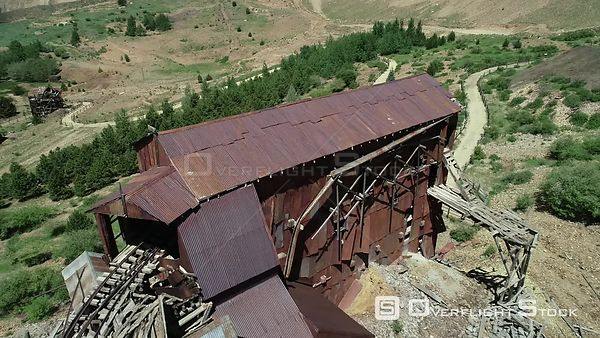 Deteriorating Gold Mine processing building, Victor, Colorado, USA