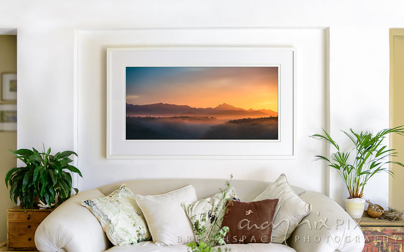 Formosa, the beautful peak, at sunrise - framed art print