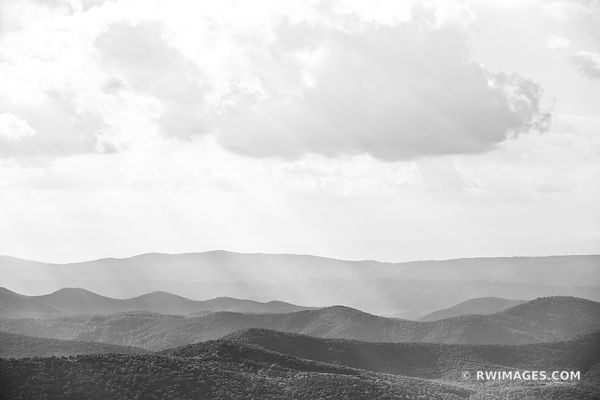 BLUE RIDGE MOUNTAINS SHENANDOAH VALLEY SHENANDOAH NATIONAL PARK VIRGINIA BLACK AND WHITE