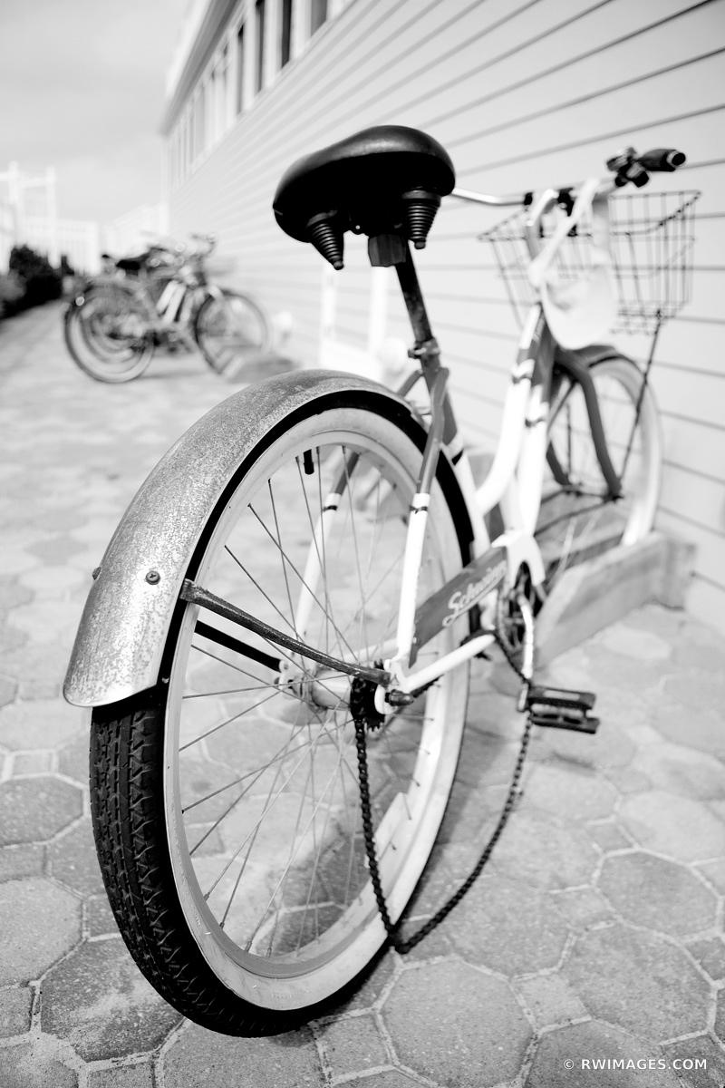 OLD BIKE LONG ISLAND NEW YORK BLACK AND WHITE VERTICAL