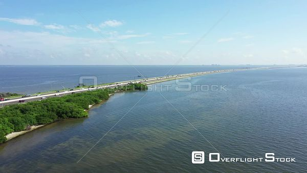 Aerial video of the 275 over Tampa Bay Florida