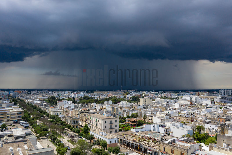Thunderstorm Approaches the City of Lecce