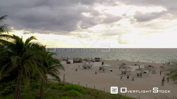 Aerial video Miami Beach Covid 19 Coronavirus phase 3 reopening