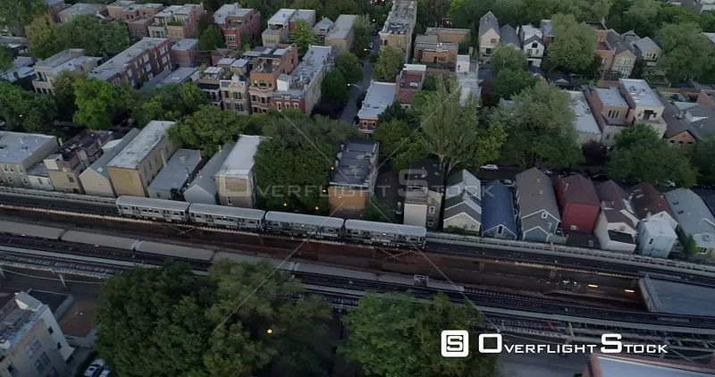 Elevated Chicago Commuter Train Line