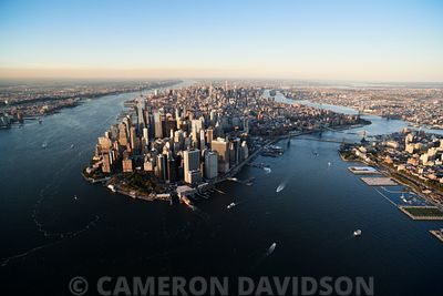 Aerial of lower Manhattan