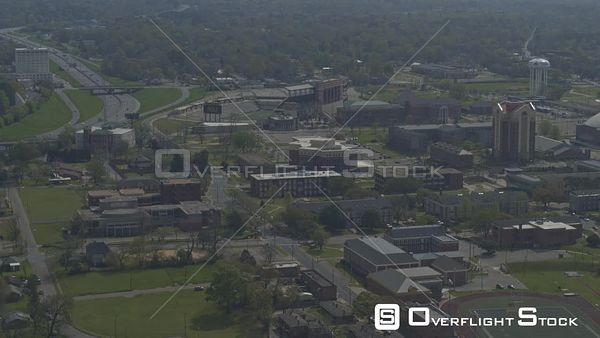 Montgomery Alabama University Campus panning shot towards the CJ Dunn tower  DJI Inspire 2, X7, 6k
