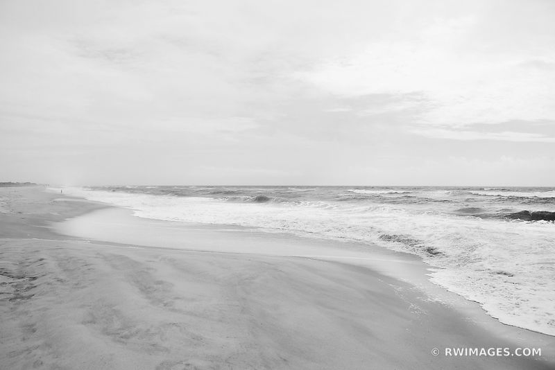 FIRE ISLAND BEACH LONG ISLAND NEW YORK BLACK AND WHITE
