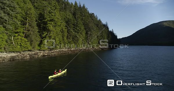 Central Coast, BC Canada. Great Bear Rainforest Fjords, Heiltsuk Nation, Bella Bella Kayaking