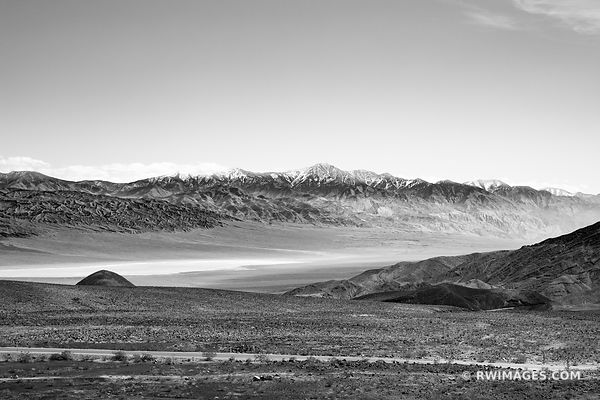 PANAMINT MOUNTAINS RANGE DEATH VALLEY CALIFORNIA AMERICAN SOUTHWEST DESERT BLACK AND WHITE LANDSCAPE