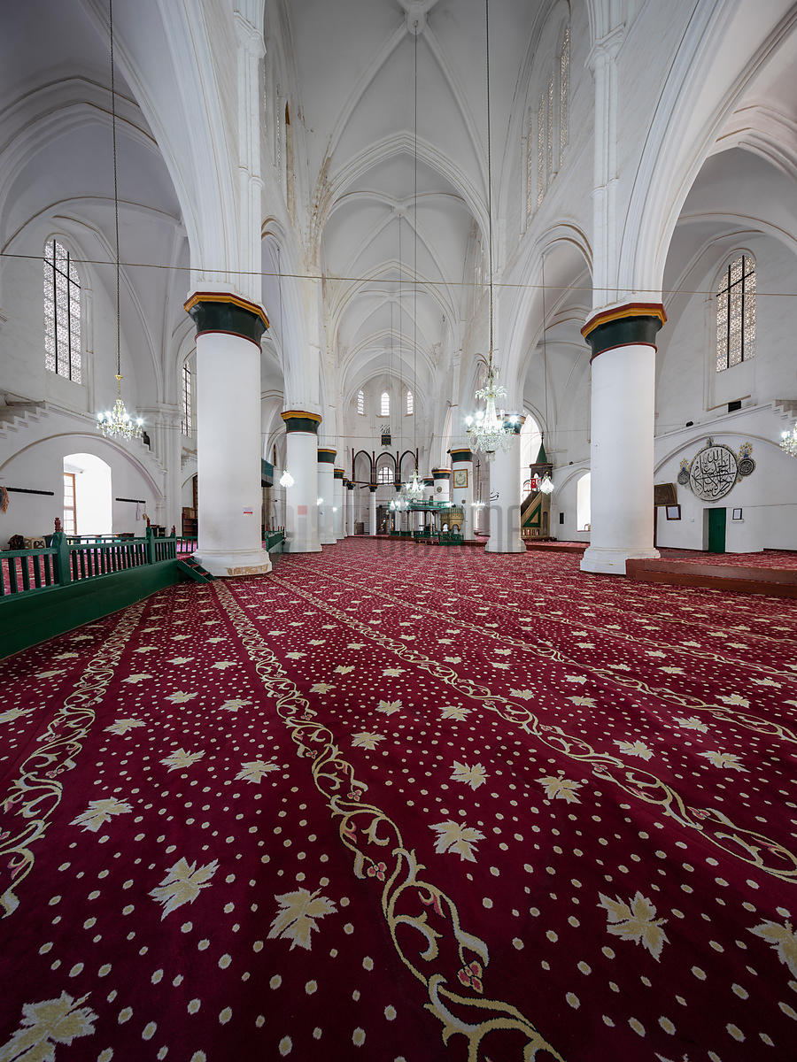Interior of Selimiye Camii formerly Saint Sofia Cathedral