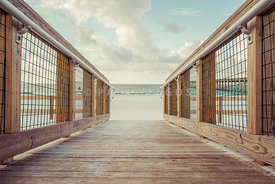 Pensacola Beach Entrance Wooden Boardwalk Photo