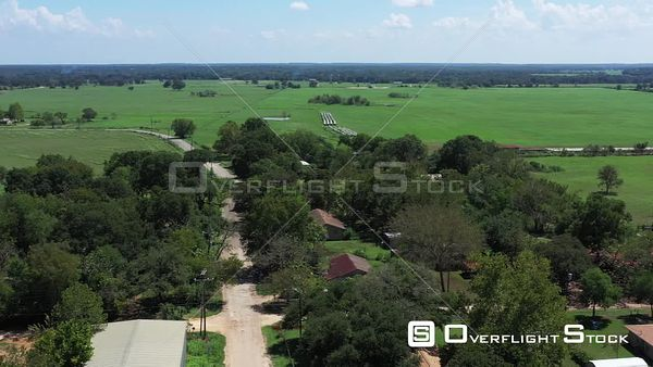 Rural Pastures, Trees and Scenery, Gause, Texas, USA
