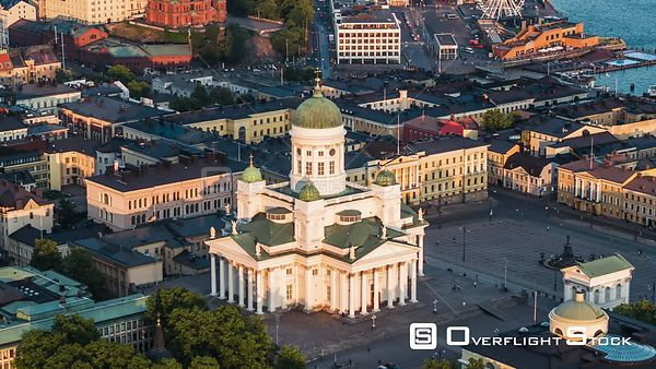 Drone Video of Helsinki Cathedral Finland