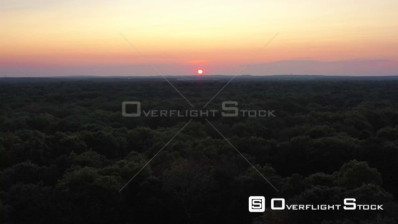 Sunset Over Forest Quogue New York