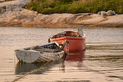 Old lobster dinghys at Peggy's Cove, Nova Scotia.