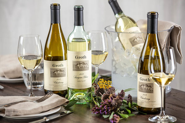Wine advertising photography for Groth Winery in Napa by Jason Tinacci / ProBottleShots.com