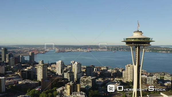 Space Needle Seattle Skyline Washington State