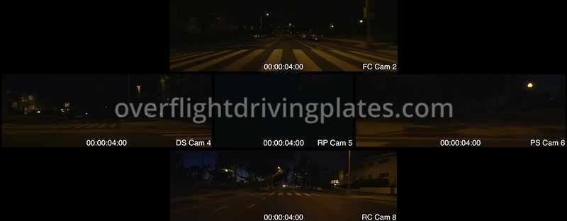 Ocean Avenue Dusk  Santa Monica California USA - Driving Plate Preview 2012