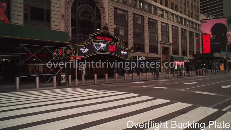 Hard Rock Cafe Deserted Streets During Covid-19 Pandemic Time Square Manhattan New York New York USA - BackingPlate Apr 26, 2020