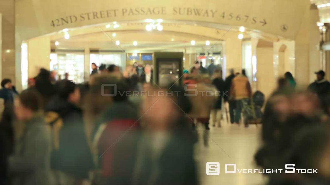 Time lapse of Grand Central Station Commuters New York NYC
