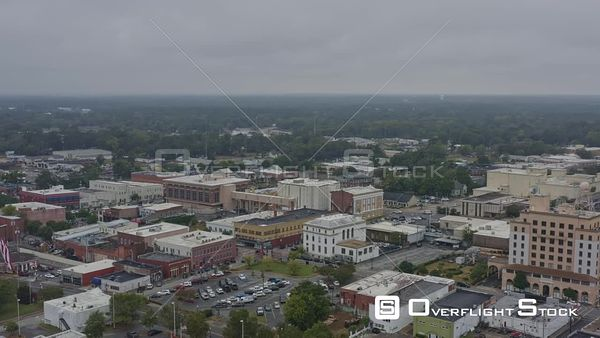 Alabama Dothan Near full panoramic of downtown from near civic center perspective
