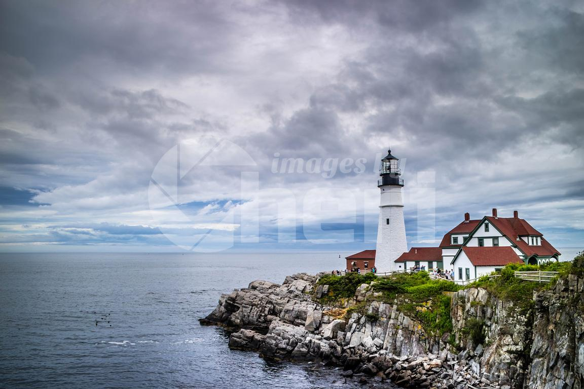 The Portland Head Lighthouse in Cape Elizabeth, Maine