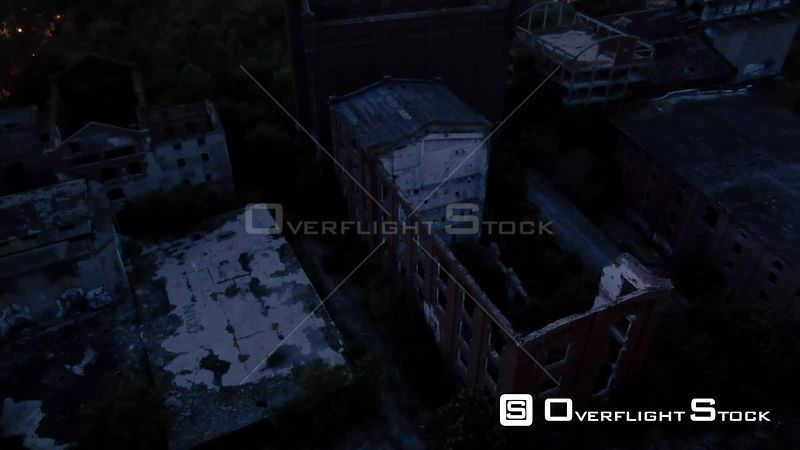 Abandoned Brick Buildings Bucharest Romania