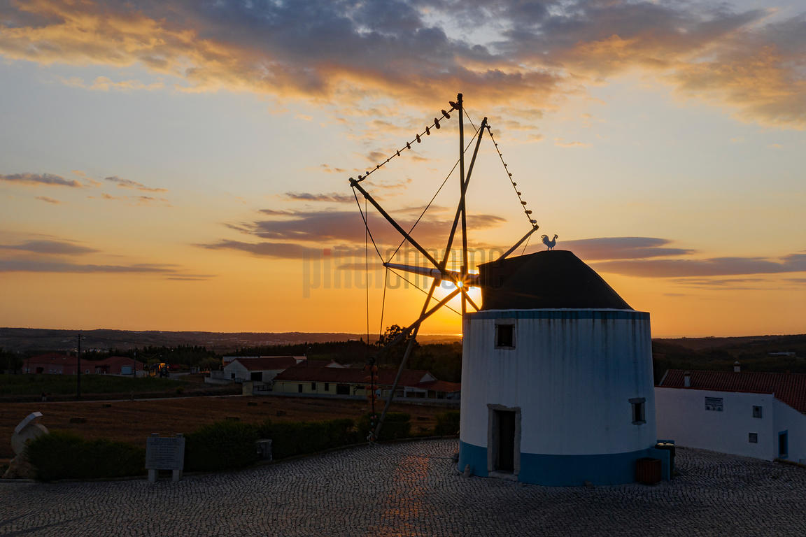 Traditional Windmill used for Milling Corn or Salt