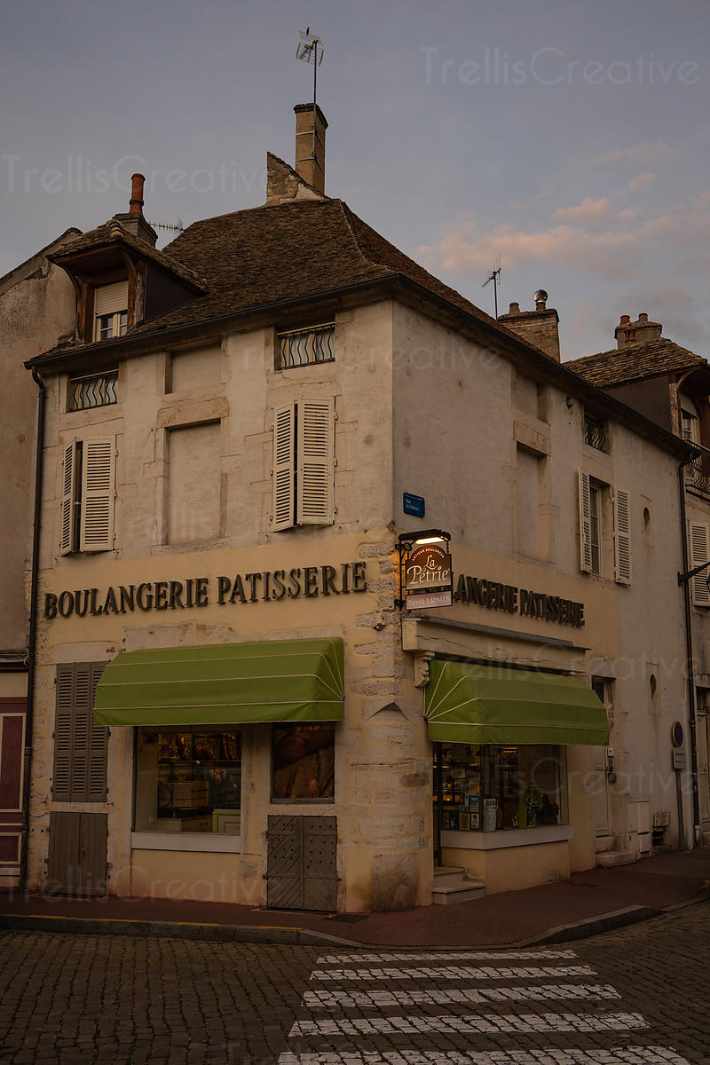 A quaint old-fashioned French boulangerie in the beautiful town of Beaune.