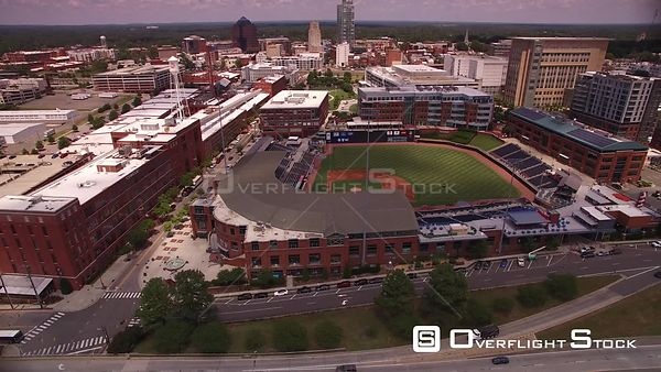 Durham Bulls Athletic Park. Drone Video Durham North Carolina