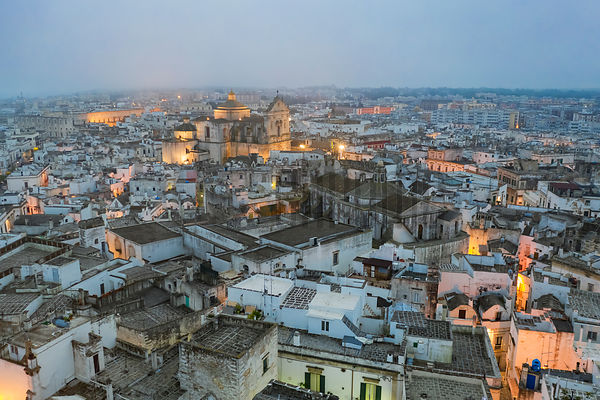 Elevated View of Martina Franca at Dawn