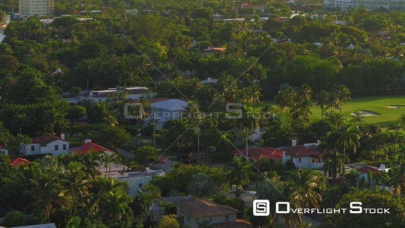 Aerial video upscale Miami Beach neighborhoods 4k