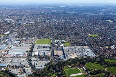 Aerial view of Preston in Melbourne, Victoria, Australia.