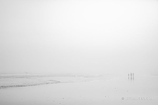 FOGGY DAY ATLANTIC OCEAN CUMBERLAND ISLAND BEACH CUMBERLAND ISLAND BEACH CUMBERLAND ISLAND GEORGIA BLACK AND WHITE