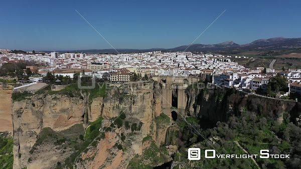 Drone Video of Historic Puente Nuevo Ronda Spain