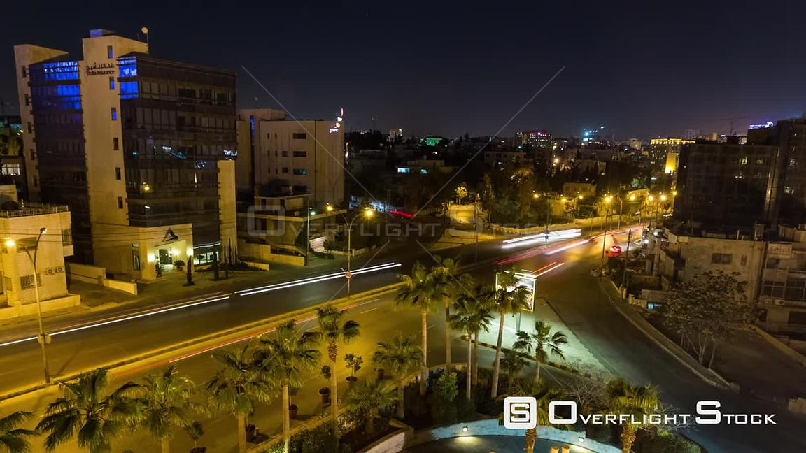 City traffic  time lapse in Amman Jordan