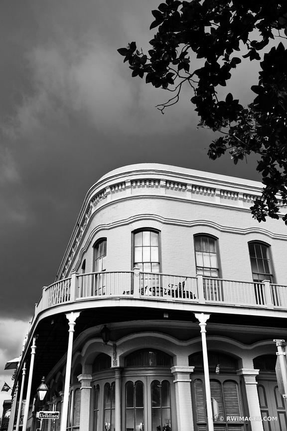 RUE DES URSULINES STREET FRENCH QUARTER NEW ORLEANS LOUISIANA BLACK AND WHITE VERTICAL
