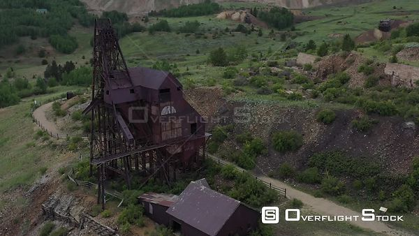 Rusty steel and metal building, abandoned gold mine, Victor, Colorado, USA