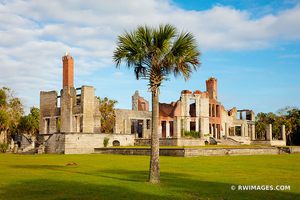 DUNGENESS MANSION RUINS CUMBERLAND ISLAND GEORGIA
