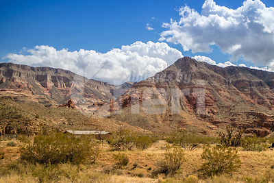 A beautiful view at Virgin River Gorge