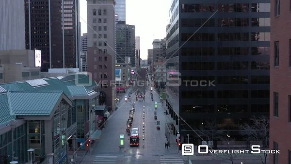 Denver, CO US. COVD-19 Empty 16th Street Mall During Pandemic Lockdown